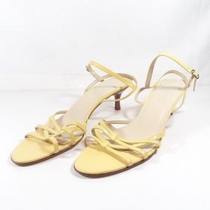 Talbots Sandals 10 Narrow Pale Yellow Shoes